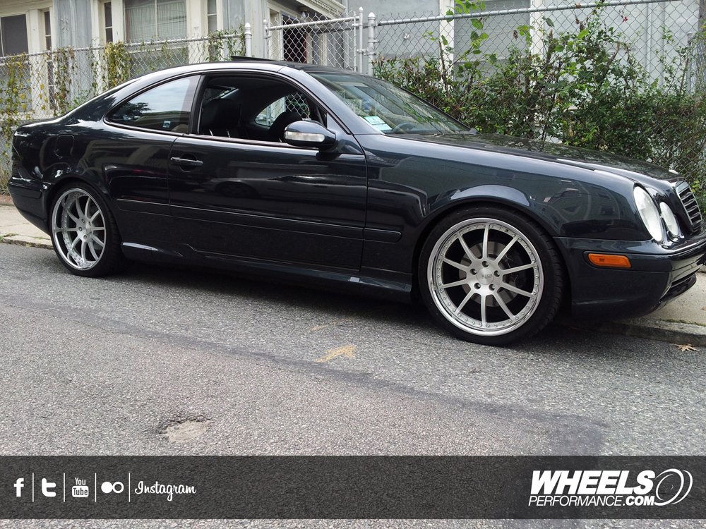 "OUR CLIENT'S MERCEDES CLK430 WITH 19"" ISS FORGED RX10 WHEELS"