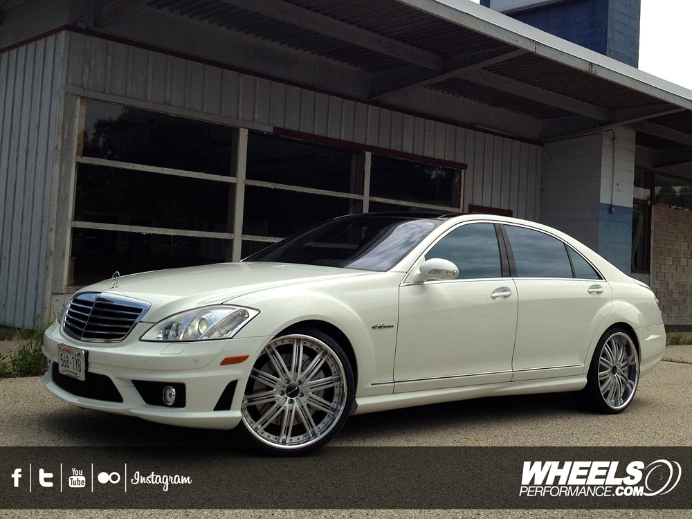 "OUR CLIENT'S MERCEDES S63 AMG WITH 22"" MHT FORGED MIRAGE WHEELS"