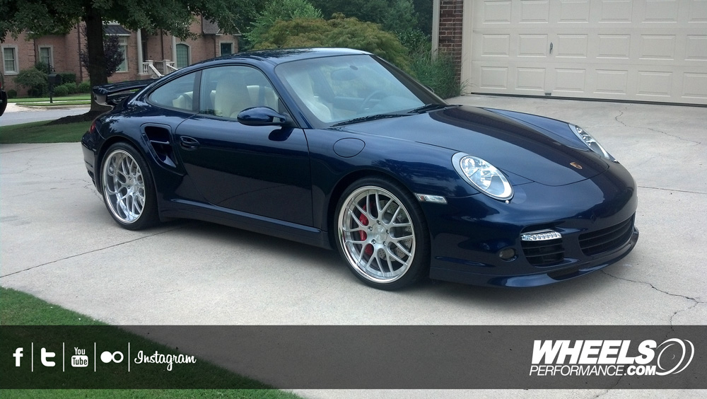 "OUR CLIENT'S PORSCHE 997 TURBO WITH 20"" 360 FORGED MESH 8 WHEELS"
