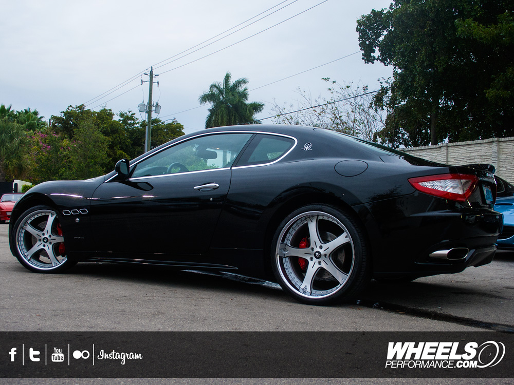 "OUR CLIENT'S MASERATI GRAN TURISMO WITH 21/22"" VELLANO VTF WHEELS"