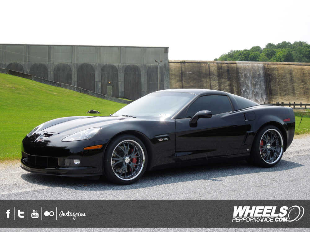 "OUR CLIENT'S CHEVROLET CORVETTE C6 Z06 WITH 19/20"" COR TRIDENT WHEELS"
