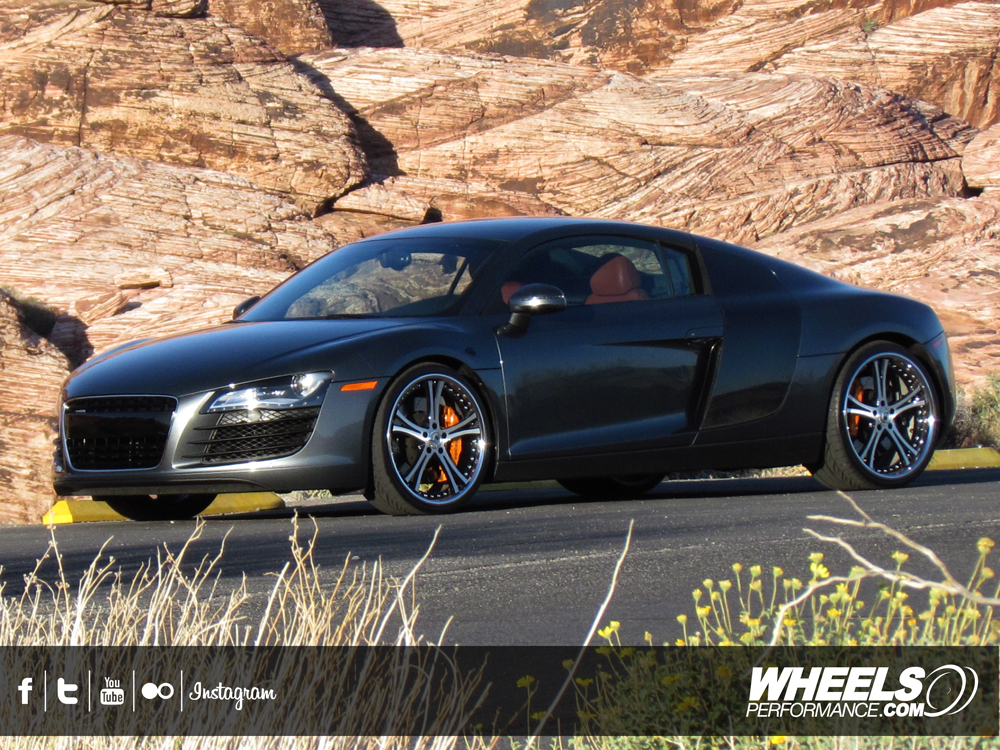 "OUR CLIENT'S AUDI R8 WITH 20"" ASANTI ACV-149 WHEELS"