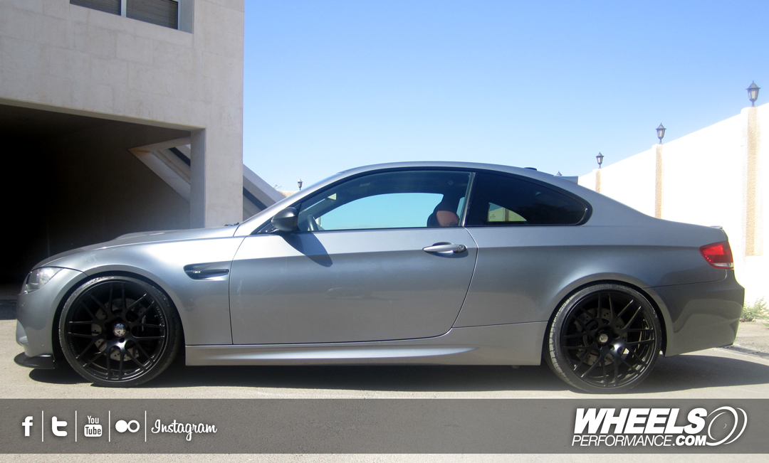 "OUR CLIENT'S BMW M3 E92 WITH 20"" COR F1 MESH WHEELS"