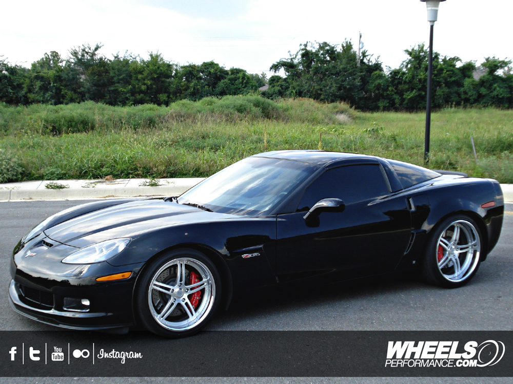 "OUR CLIENT'S CHEVROLET CORVETTE C6 Z06 WITH 19/20"" 360 FORGED SPEC 5IVE WHEELS"