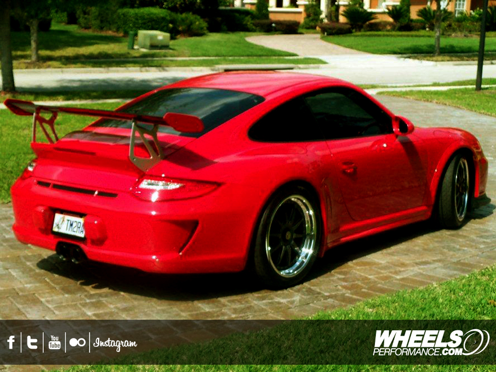 "OUR CLIENT'S PORSCHE 997 GT3RS WITH 19"" HRE CL93 WHEELS"