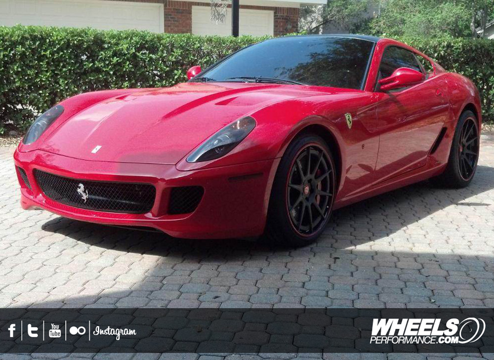 "OUR CLIENT'S FERRARI 599 GTB WITH 20/21"" ADV.1 ADV10 TRACKSPEC WHEELS"