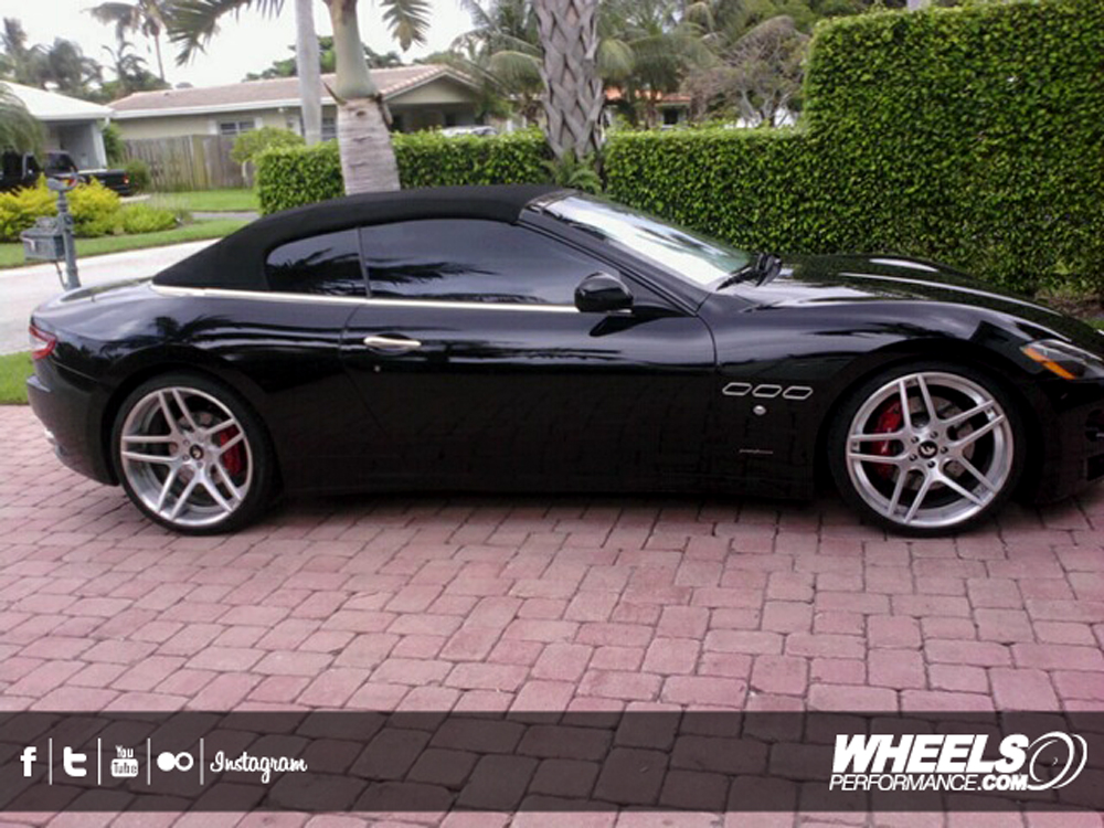 "OUR CLIENT'S MASERATI GRAN TURISMO WITH 21/22"" FORGIATO DIECI WHEELS"