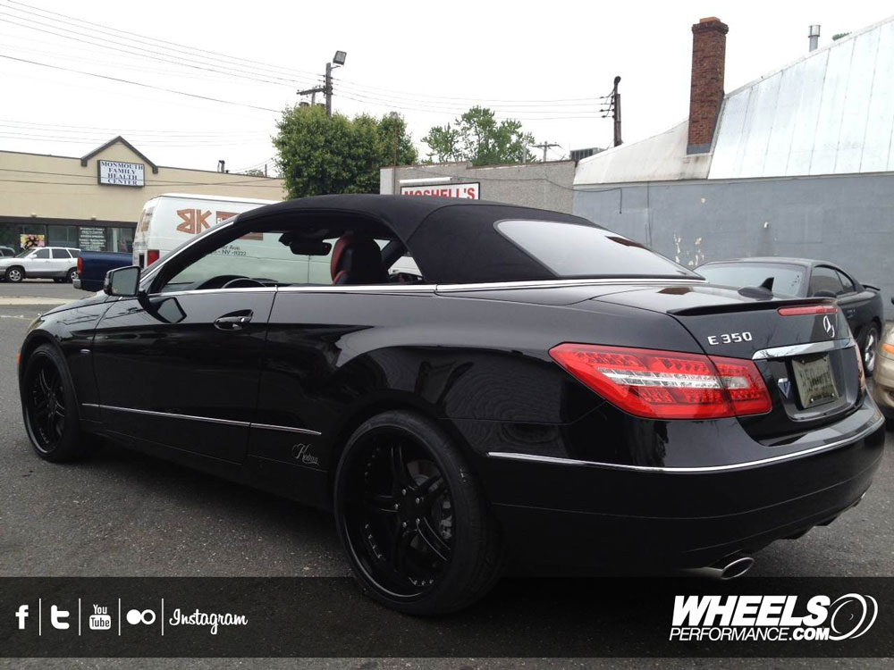 "OUR CLIENT'S MERCEDES E350 CABRIO WITH 20"" ISS FORGED COMPLEX 5 WHEELS"