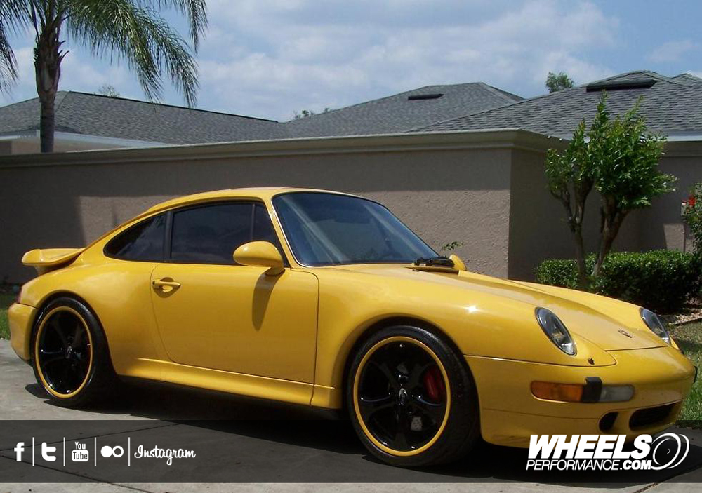 "OUR CLIENT'S PORSCHE 993 TURBO WITH 19"" TECHART FORMULA GTS WHEELS."