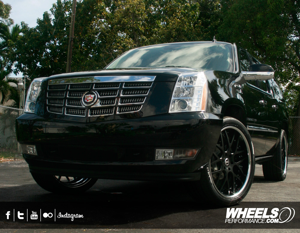 "OUR CLIENT'S CADILLAC ESCALADE WITH 24"" MOZ FORGED GTM8 WHEELS"