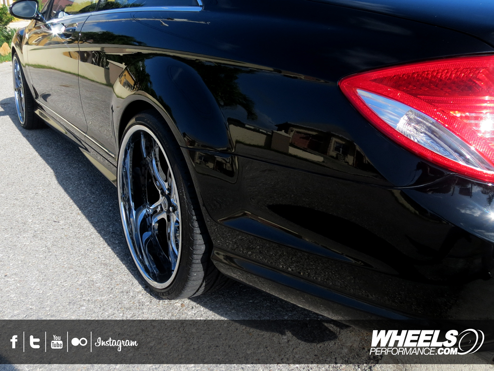 "OUR CLIENT'S MERCEDES CL550 WITH 22"" ASANTI AF-176 WHEELS"