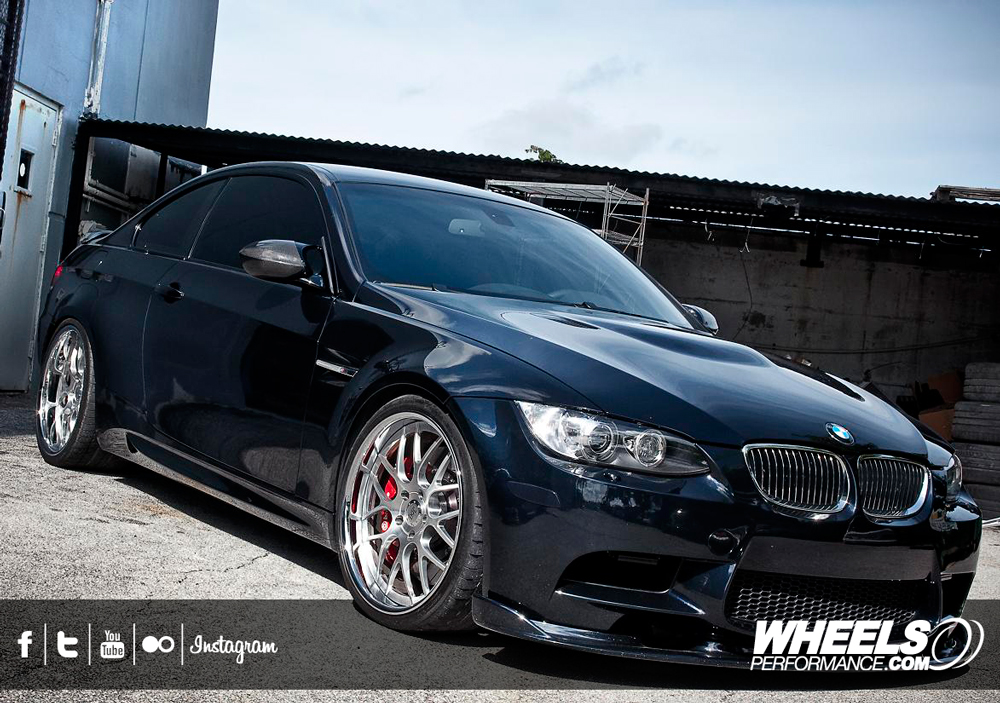 "OUR CLIENT'S BMW M3 E92 WITH 20"" 360 FORGED MESH 8 WHEELS."