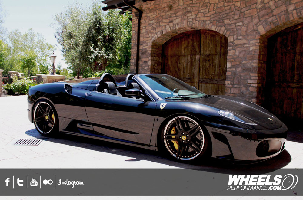 "OUR CLIENT'S FERRARI F430 SPIDER WITH 20"" NOVITEC ROSSO NF3 WHEELS"