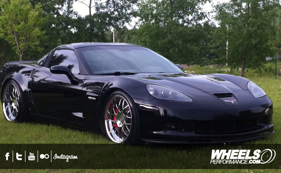 "OUR CLIENT'S CHEVROLET CORVETTE C6 Z06 WITH 19/20"" 360 FORGED MESH 8 WHEELS"