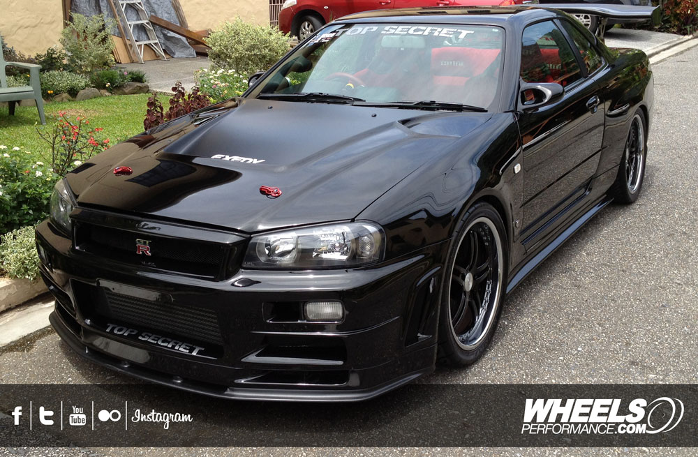 "OUR CLIENT'S NISSAN SKYLINE GT-R R34 WITH 19"" ISS FORGED COMPLEX 5 WHEELS"