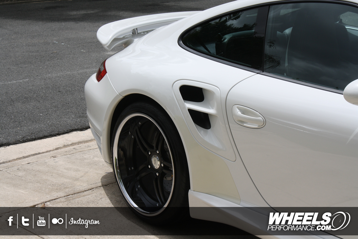 "OUR CLIENT'S PORSCHE 997 TURBO WITH 20"" 360 FORGED SPEC 5IVE WHEELS"