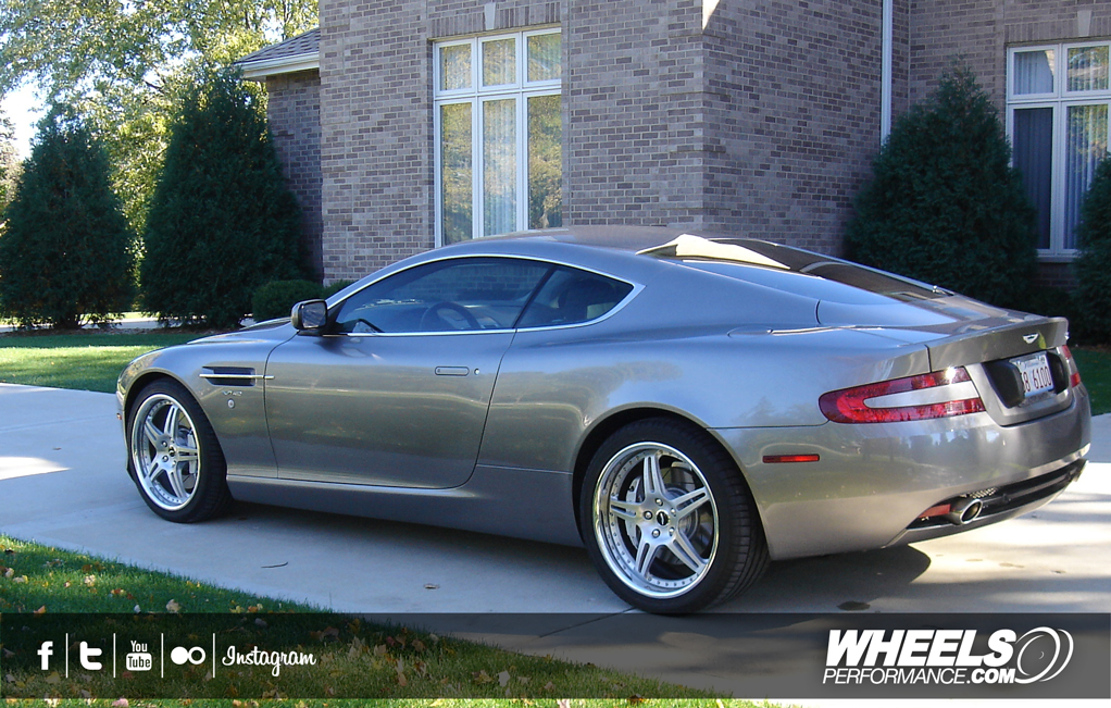 "OUR CLIENT'S ASTON MARTIN DB9 WITH 19"" HRE 597R WHEELS"