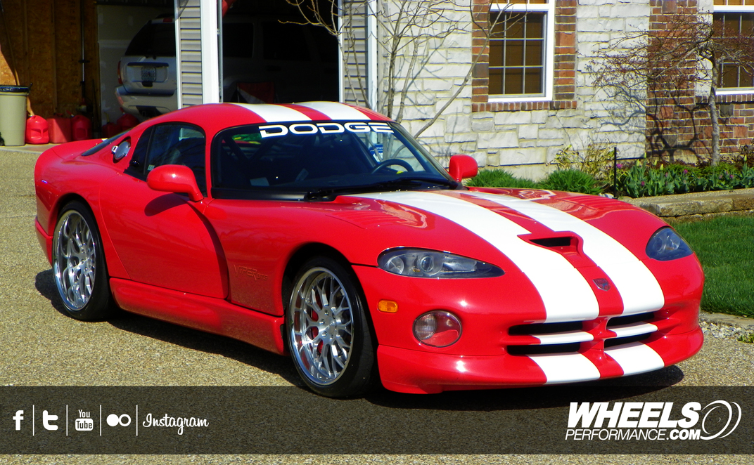 "OUR CLIENT'S DODGE VIPER GTS WITH 19/20"" ISS FORGED SPYDER WHEELS"