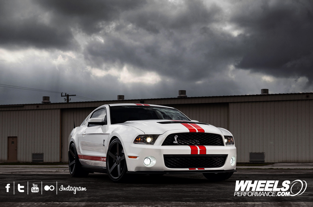"OUR CLIENT'S SHELBY GT500 WITH 20"" VOSSEN CV3 WHEELS"
