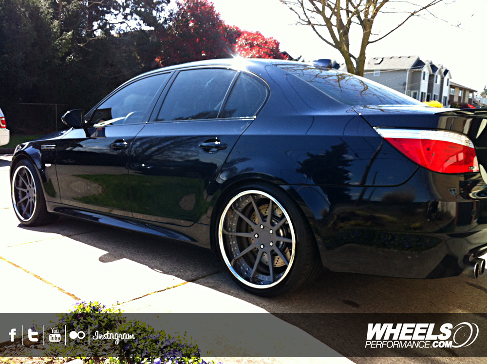 "OUR CLIENT'S BMW M5 WITH 20"" COR CIPHER WHEELS"