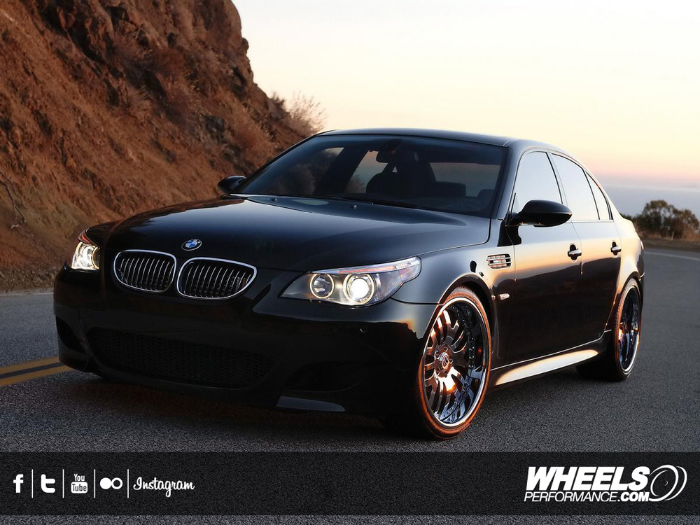 "OUR CLIENT'S BMW M5 WITH 20"" ASANTI AF-115 WHEELS"