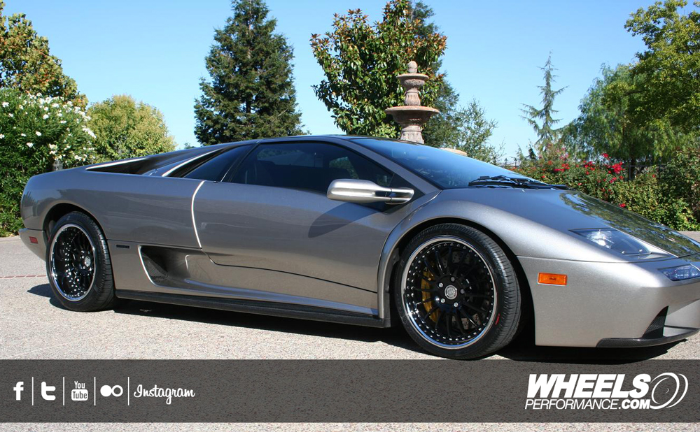 "OUR CLIENT'S LAMBORGHINI DIABLO 6.0 WITH 18"" HRE 549R WHEELS."