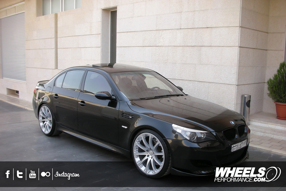 "OUR CLIENT'S BMW M5 WITH 21"" HARTGE CLASSIC 2 WHEELS."