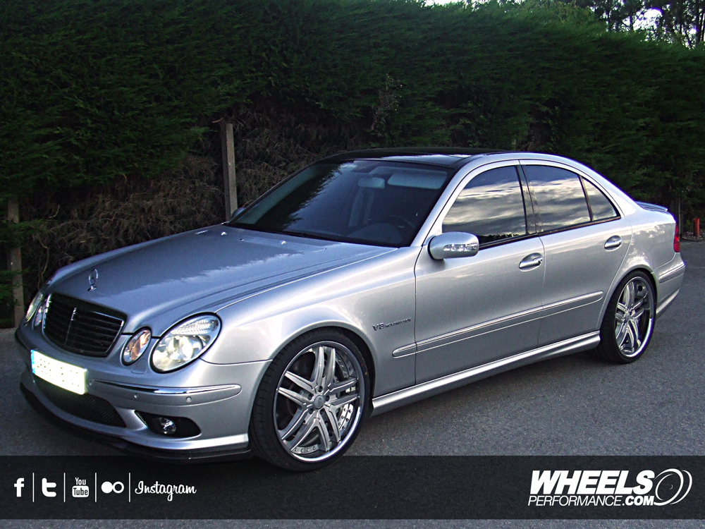 "OUR CLIENT'S MERCEDES E55 AMG WITH 20"" FORGIATO VIZZO WHEELS"
