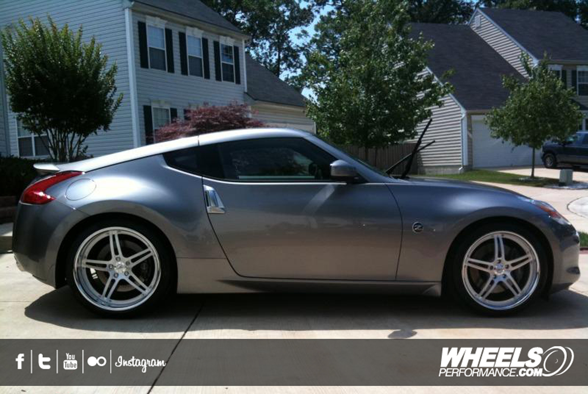 "OUR CLIENT'S NISSAN 370Z WITH 20"" FORZA FORGED FRZ-551 WHEELS"