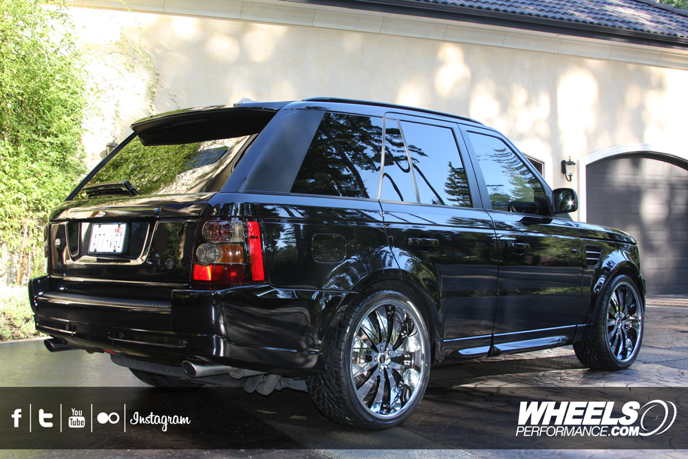 "OUR CLIENT'S RANGE ROVER SPORT WITH 22"" MOZ FORGED PHENOM WHEELS"