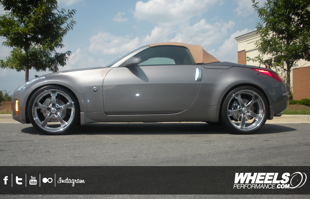 """OUR CLIENT'S NISSAN 350Z WITH 21"""" COR CONCORD WHEELS"""