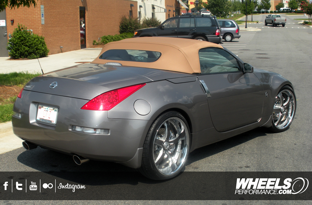 "OUR CLIENT'S NISSAN 350Z WITH 21"" COR CONCORD WHEELS"