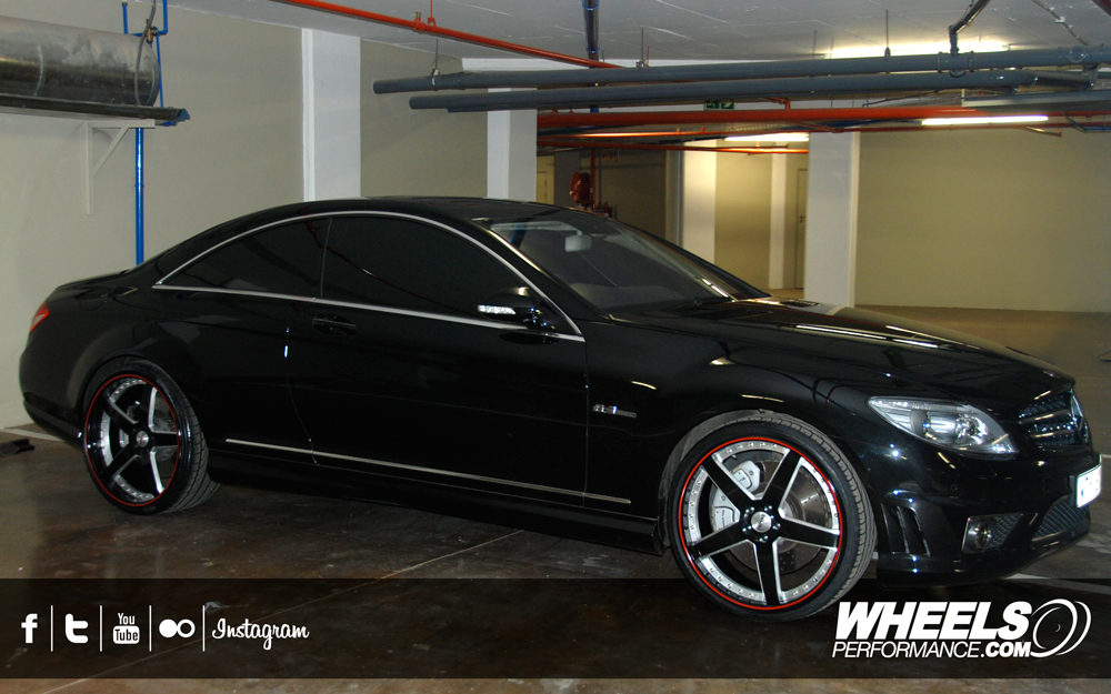 "OUR CLIENT'S MERCEDES CL63 AMG WITH 22"" SEVAS FORGED R5 WHEELS"