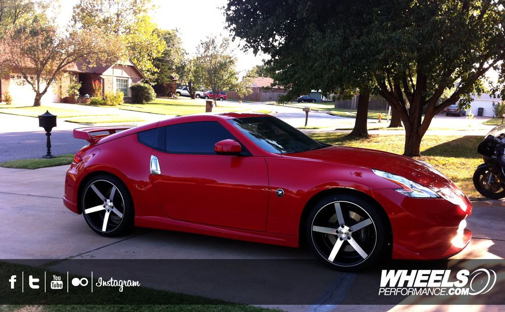 "OUR CLIENT'S NISSAN NISMO 370Z WITH 20"" VOSSEN VVS-CV3 WHEELS"