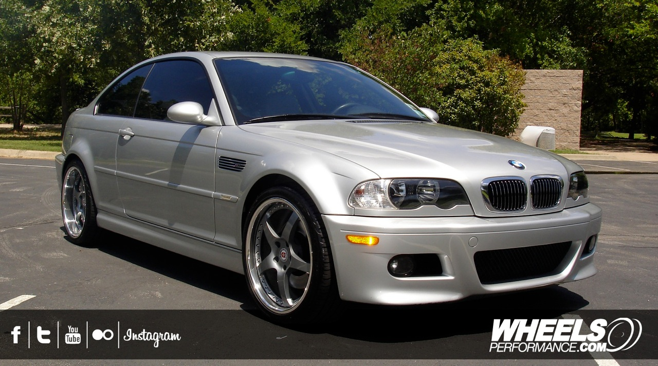 "OUR CLIENT'S BMW M3 E46 WITH 19"" HRE 545R WHEELS"