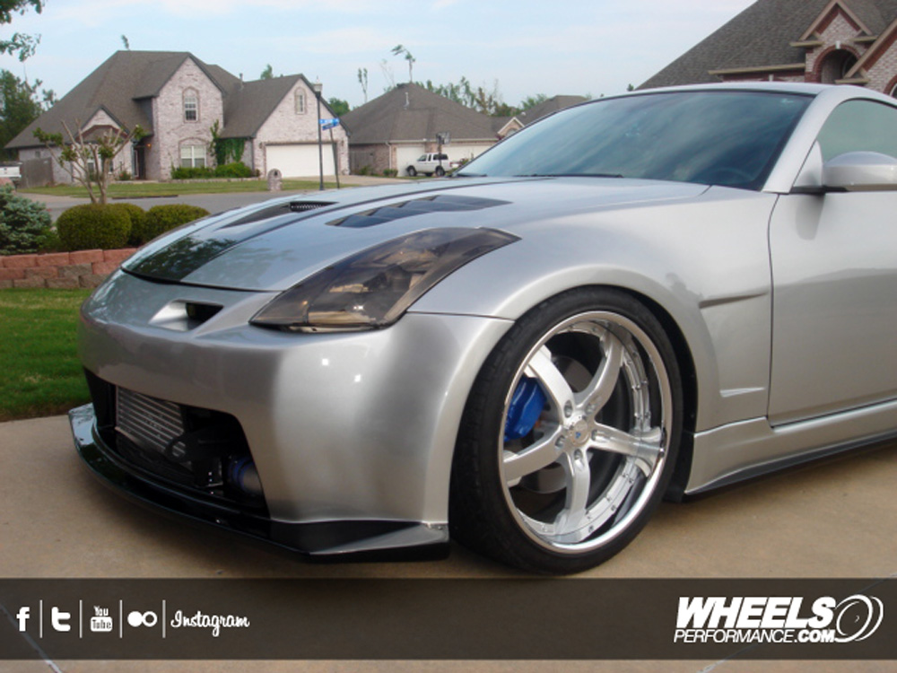 "OUR CLIENT'S NISSAN 350Z WITH 20"" COR CONCORD WHEELS"
