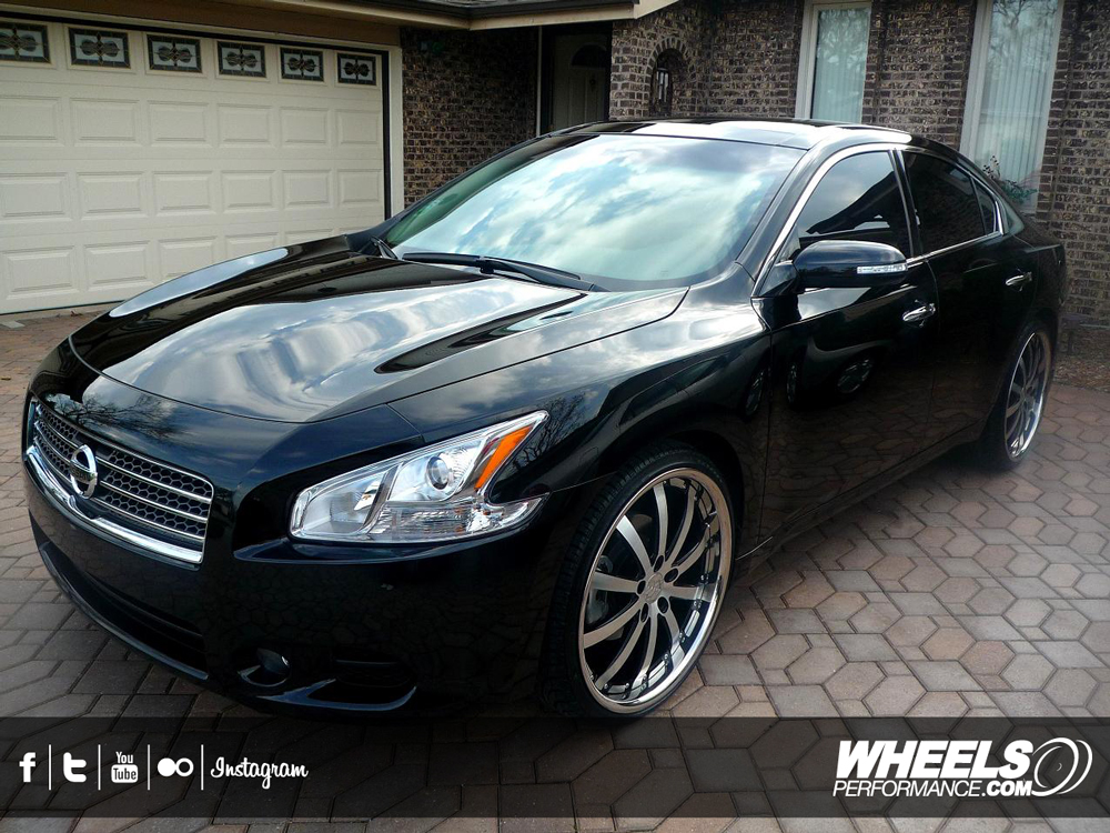 "OUR CLIENT'S NISSAN ALTIMA WITH 22"" VOSSEN VVS-083 WHEELS"