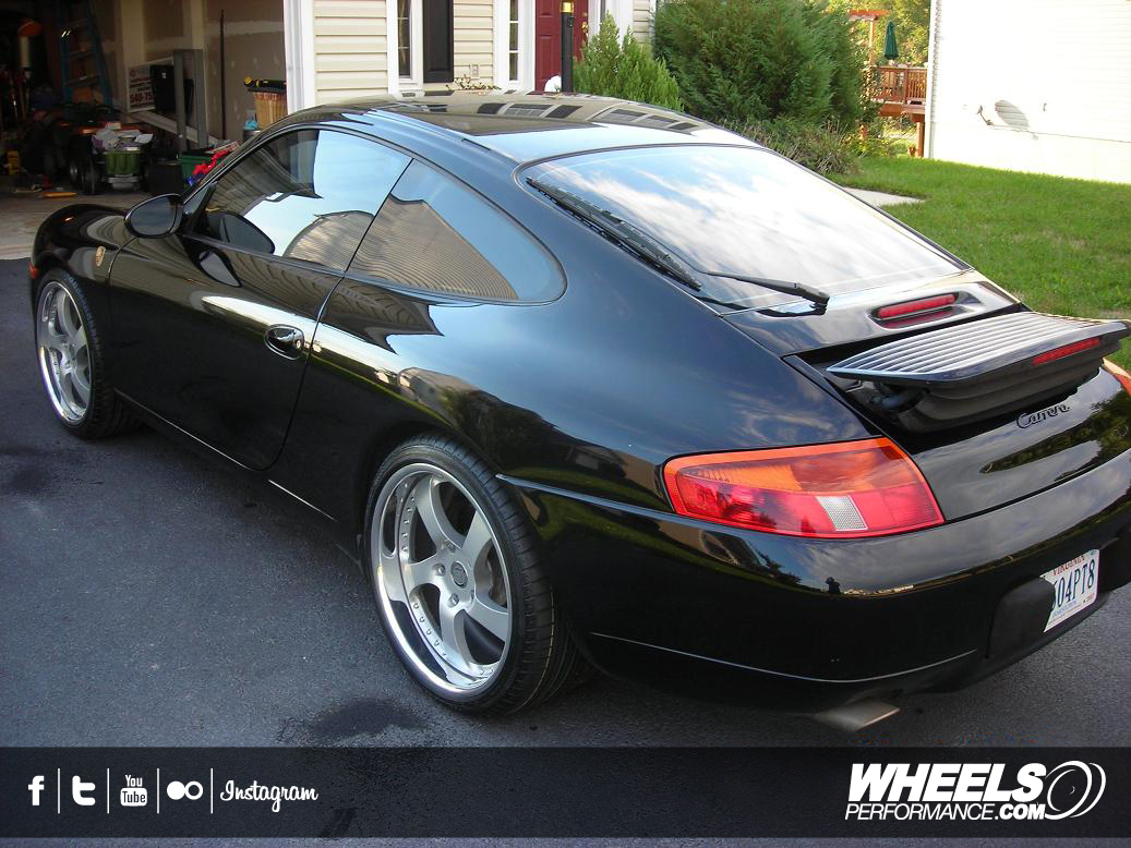 "OUR CLIENT'S PORSCHE 996 WITH 19"" HRE 542R WHEELS"