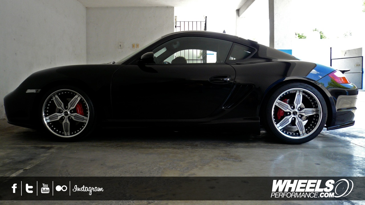 """OUR CLIENT'S PORSCHE CAYMAN S WITH 19"""" MOZ FORGED TAGG WHEELS"""