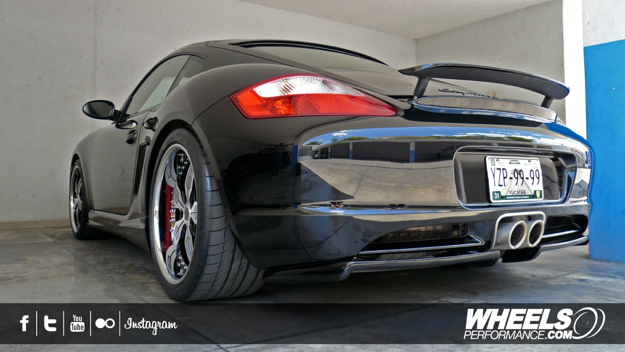 "OUR CLIENT'S PORSCHE CAYMAN S WITH 19"" MOZ FORGED TAGG WHEELS"