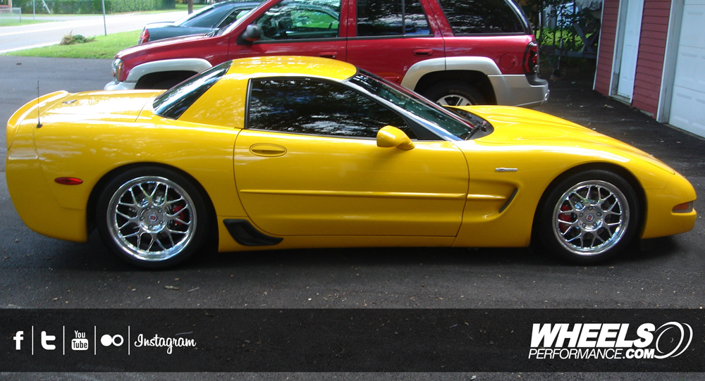 "OUR CLIENT'S CHEVROLET CORVETTE C5 Z06 WITH 18/19"" HRE 560R WHEELS"