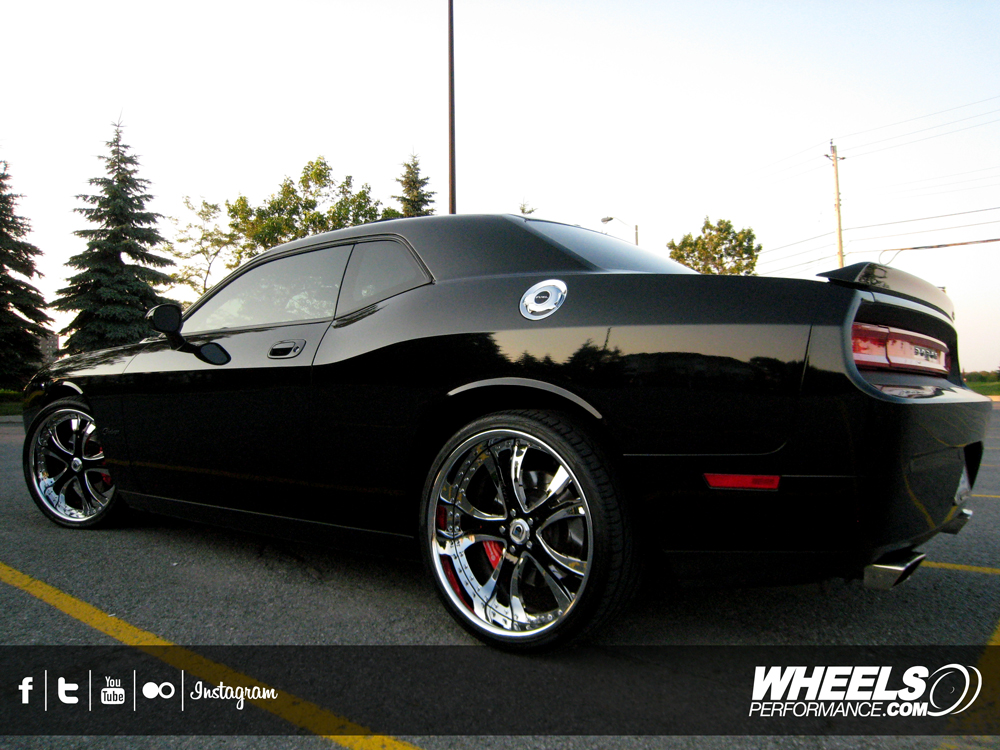 "OUR CLIENT'S DODGE CHALLENGER SRT-8 WITH 22"" ASANTI WHEELS"