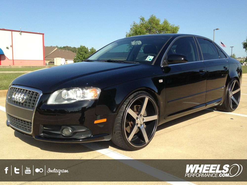 "OUR CLIENTS AUDI A4 WITH 20"" VOSSEN CV3 WHEELS"
