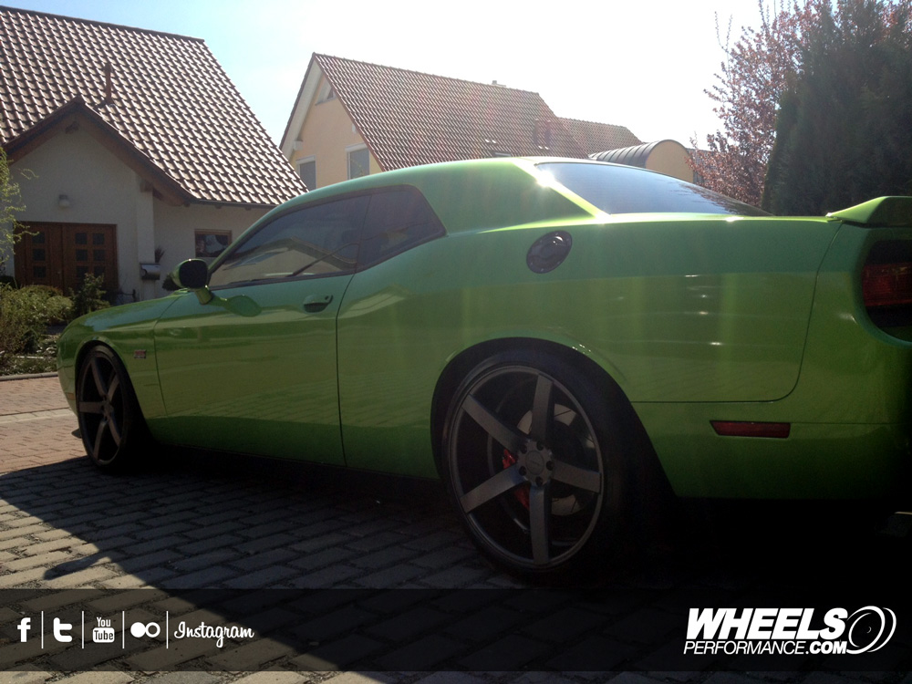 "OUR CLIENT'S DODGE CHALLENGER SRT-8 WITH 22"" VOSSEN CV3 WHEELS"