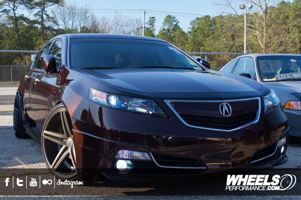 "OUR CLIENT'S ACURA TL WITH 20"" VOSSEN CV5 WHEELS"