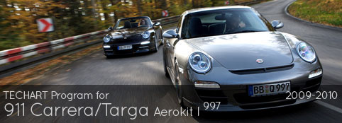 TECHART Program for 997 Carrera/Targa: Aerokit I