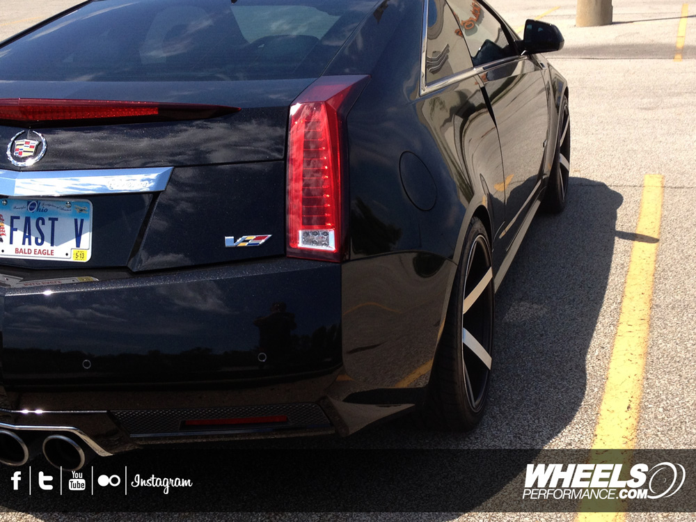 "OUR CLIENT'S CADILLAC CTS-V WITH 20"" VOSSEN CV3 BLACK MACHINED WHEELS"