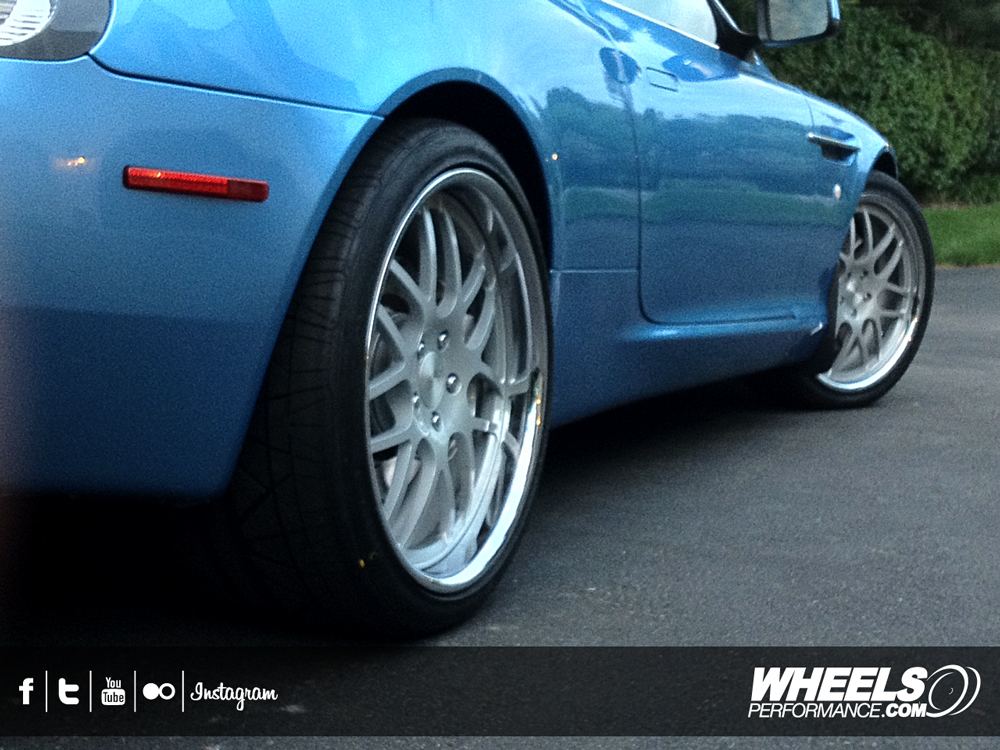 "OUR CLIENT'S ASTON MARTIN DB9 VOLANTE WITH 20"" ISS FORGED SPIA WHEELS"