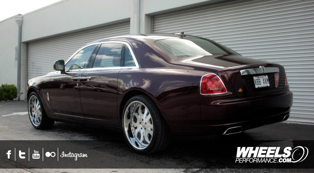 "OUR CLIENT'S ROLLS ROYCE GHOST WITH 22"" FORGIATO TELLO WHEELS"