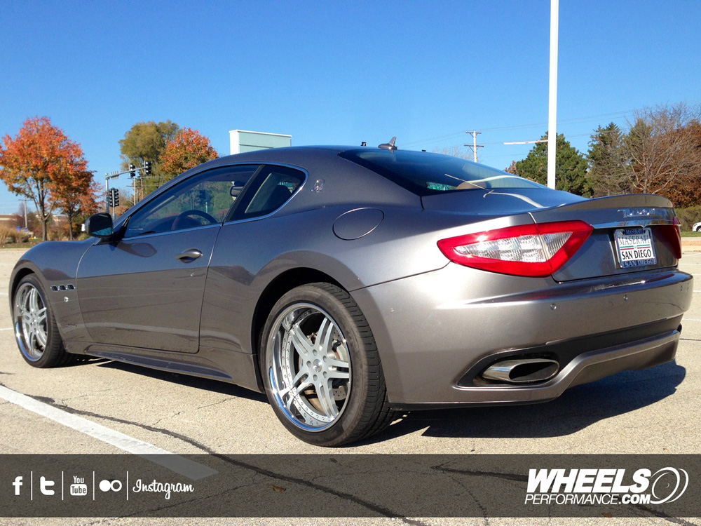 "OUR CLIENT'S MASERATI GRAN TURISMO WITH 20"" VELLANO VSH WHEELS"